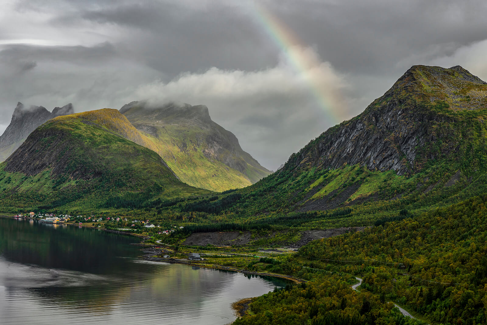 Rainbow over Bergsbotn by Joakim Jormelin