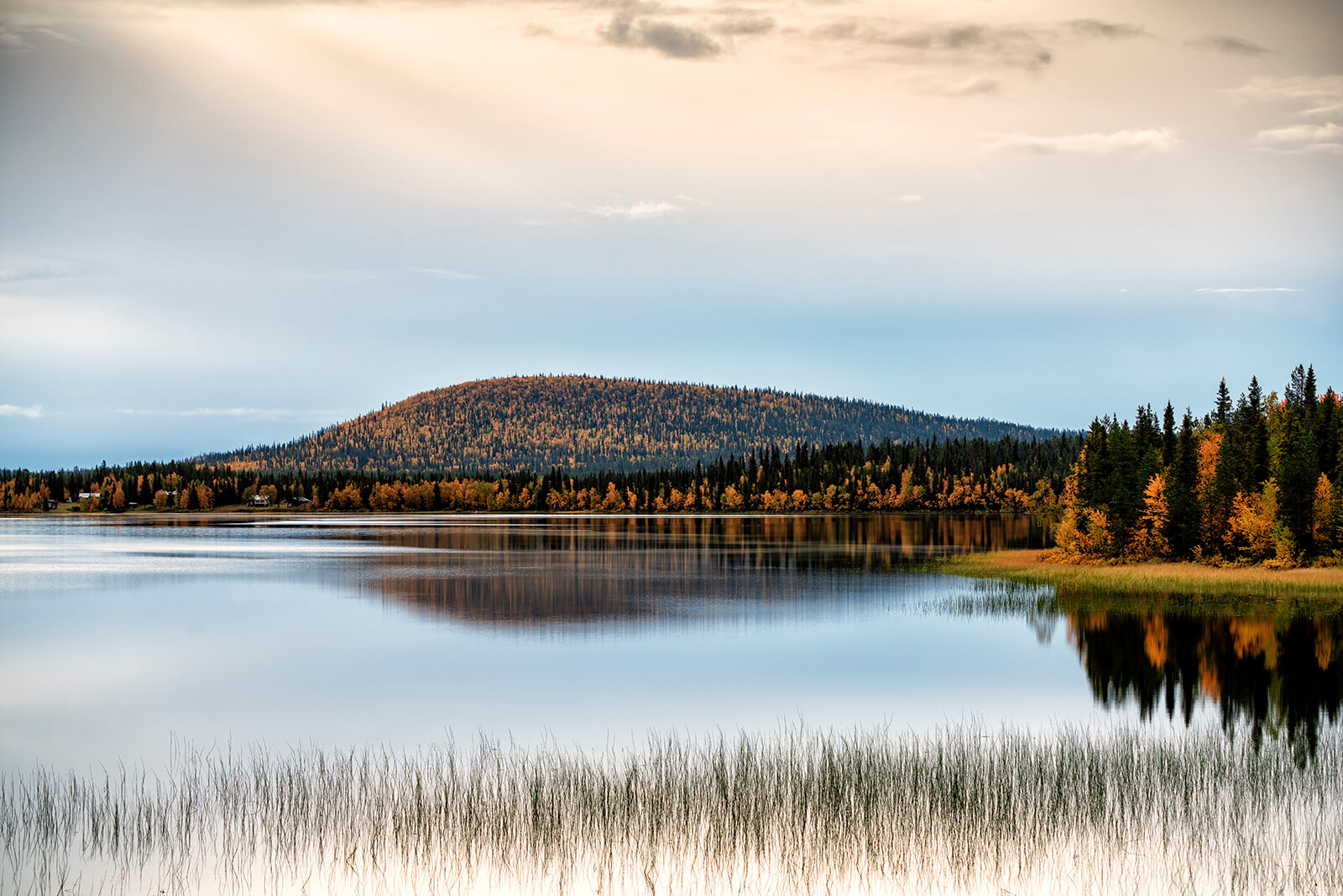 Scenic landscape from northern Sweden