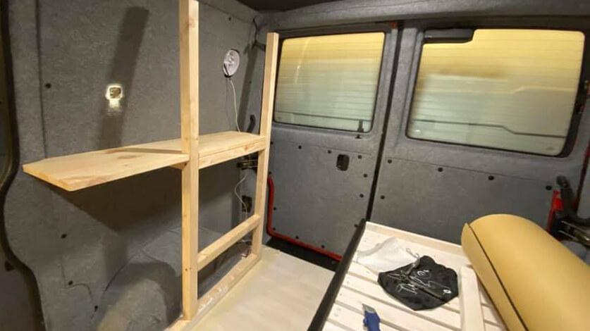 Building camper van interior