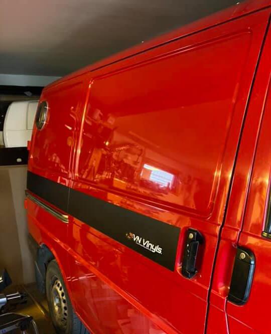 Polishing camper van exterior