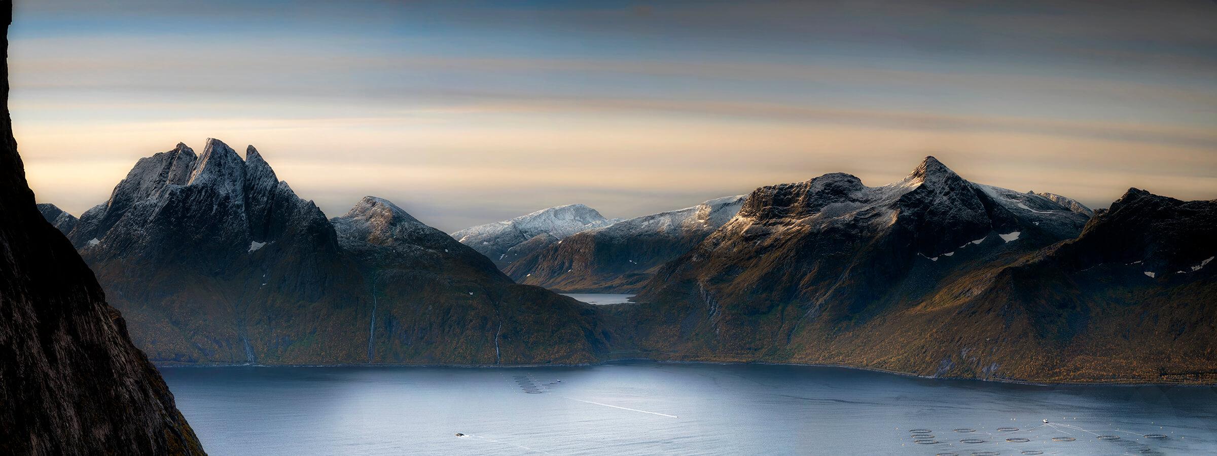 Mountain panorama photo, Segla Norway by Joakim Jormelin